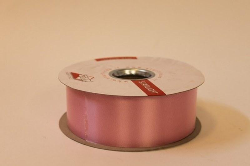 Baby pink polytie florist ribbon, 100yds-P12