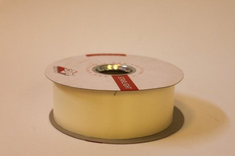 Eggshell polytie floirst ribbon, 100yds-P125