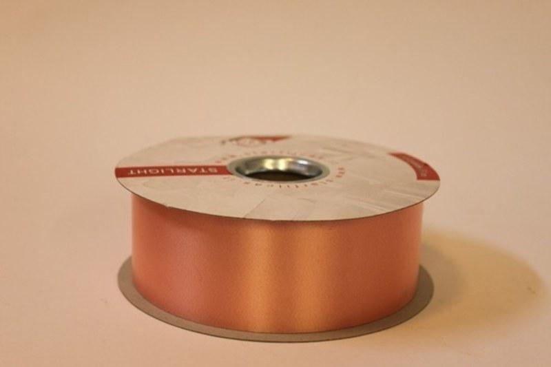 Apricot polytie florist ribbon, 100yds-P139