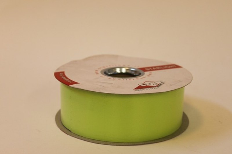 Lime green polytie florist ribbon, 100yds-P164