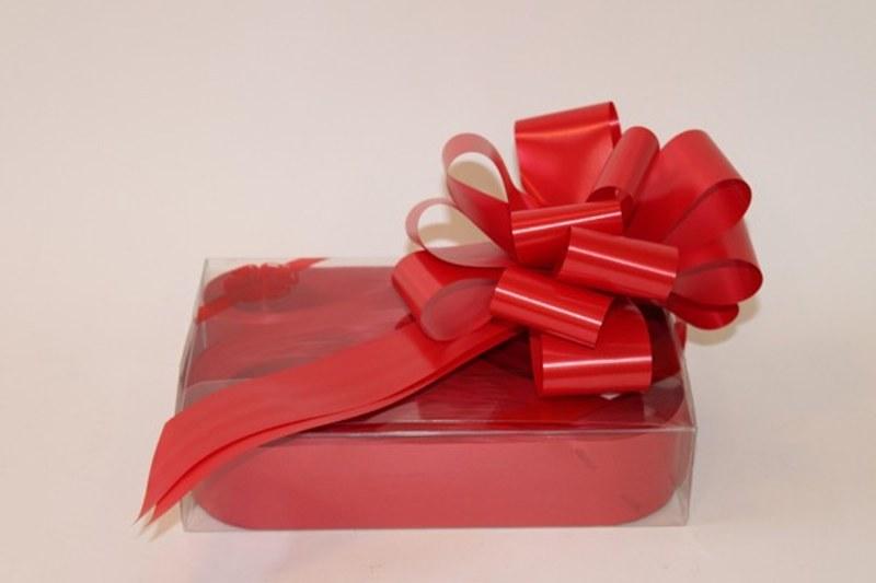 Box of 30 red 31mm ribbon pullbows-P170