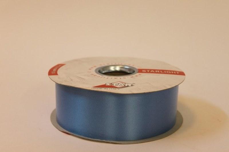 Mid blue polytie florist ribbon, 100yds-P190