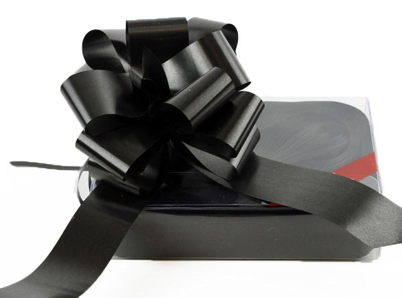 20 x Black Pull Bows 50mm