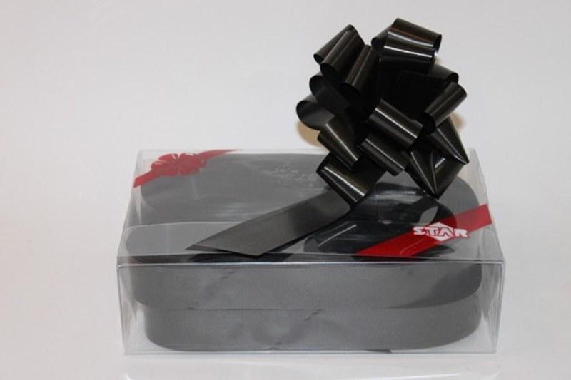 Box of 30 black 31mm ribbon pullbows-P23