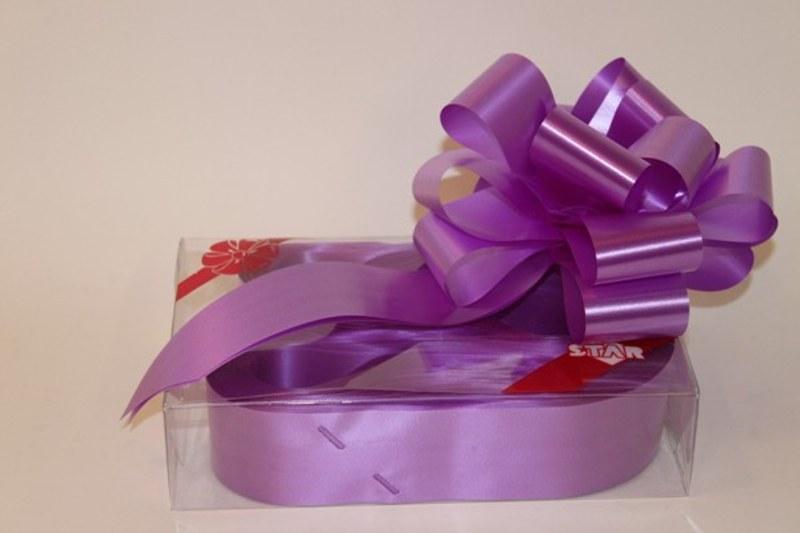 Box of 20 lilac 50mm ribbon pullbows-P28