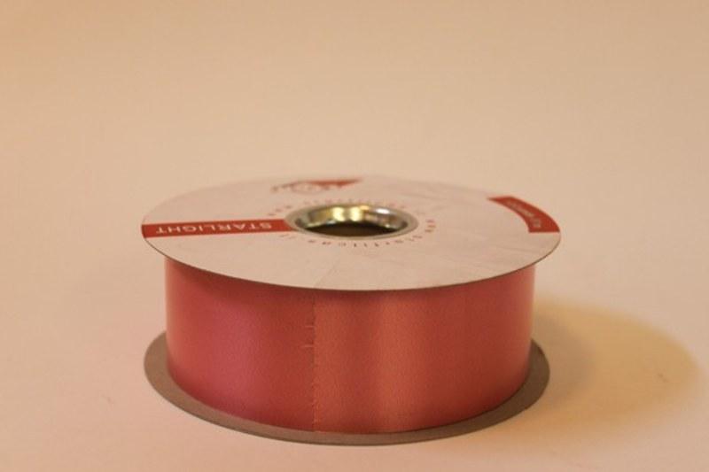 Salmon pink polytie floirst ribbon, 100yds-P29