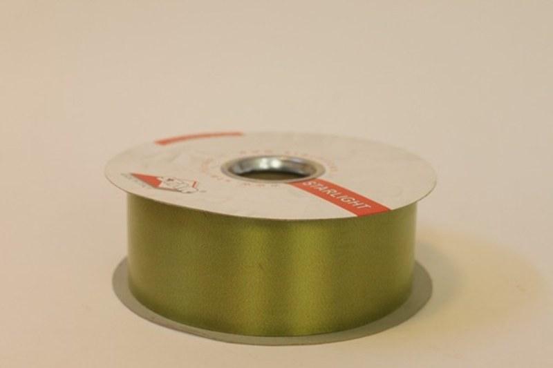 Olive green polytie florist ribbon, 100yds-P41