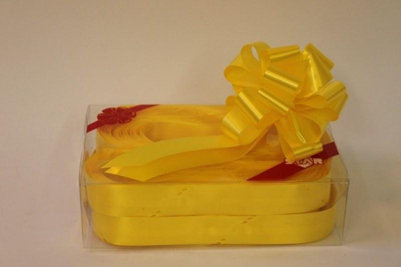 Box of 30 daffodil 31mmribbon pullbows-P58