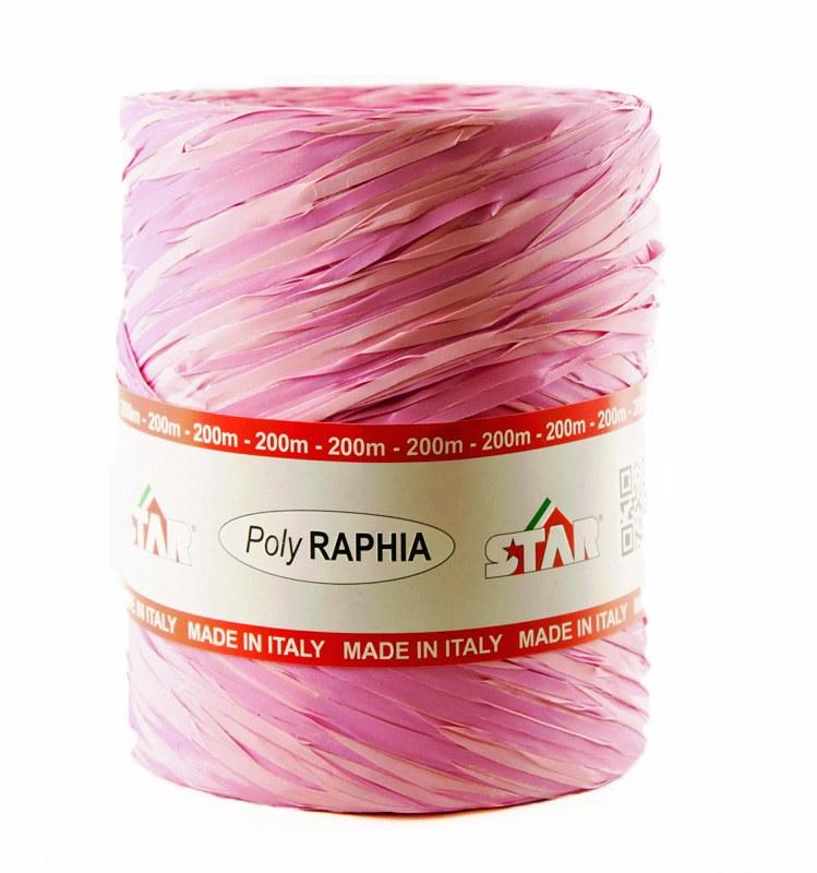 Poly raphia ribbon lilac 200m