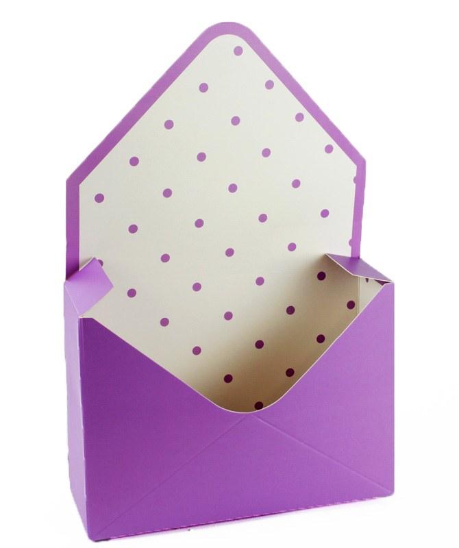 Envelope Flower Box Lilac x 10