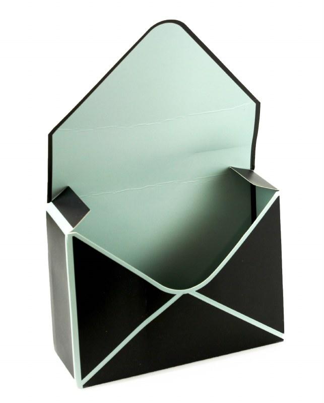Envelope Flower Box Black x 10pcs