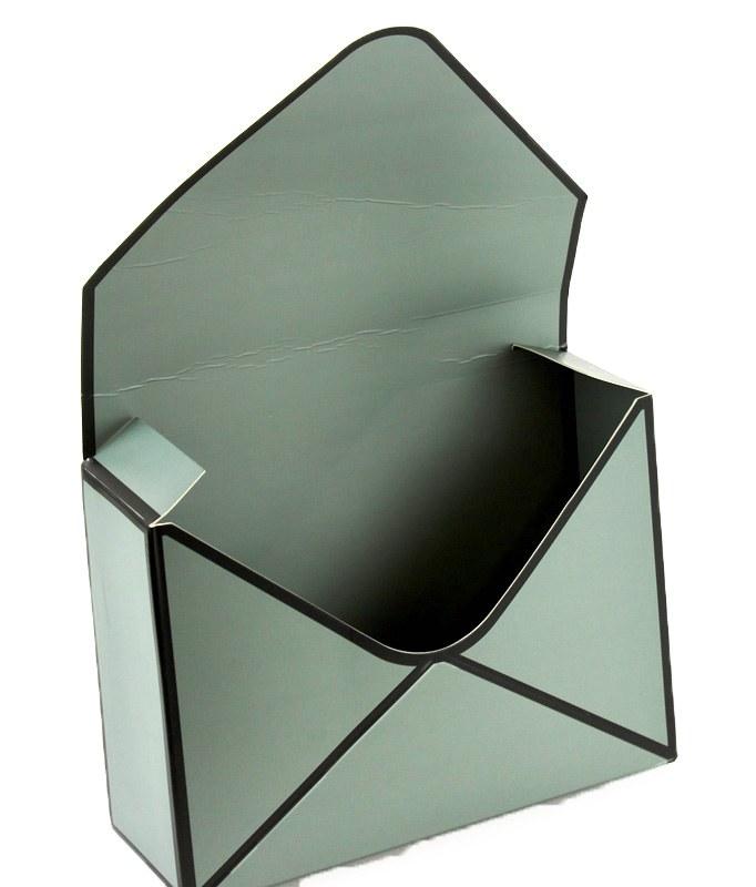 Envelope Flower Box Grey x 10