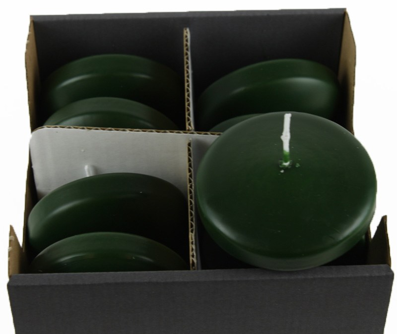 Floating Candles Large Dark Green x 8