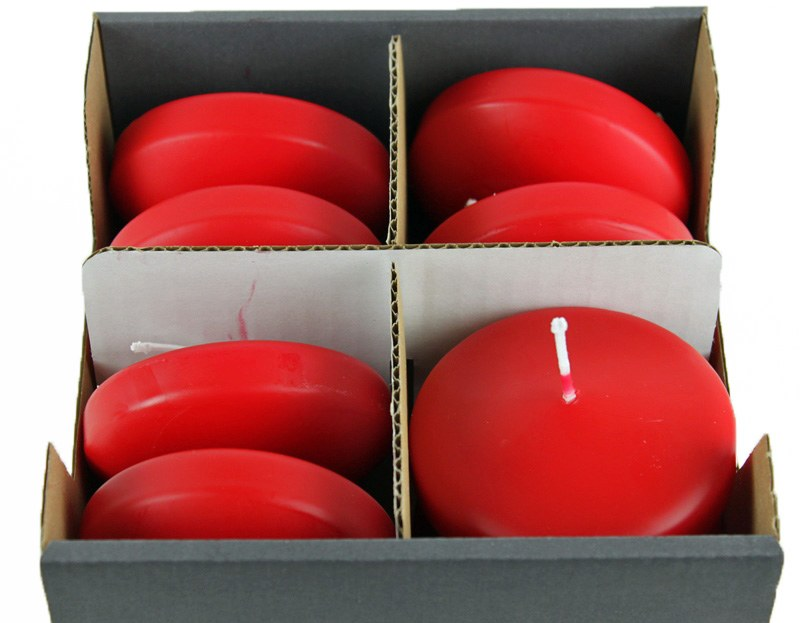 Floating Candles Large Red x 8