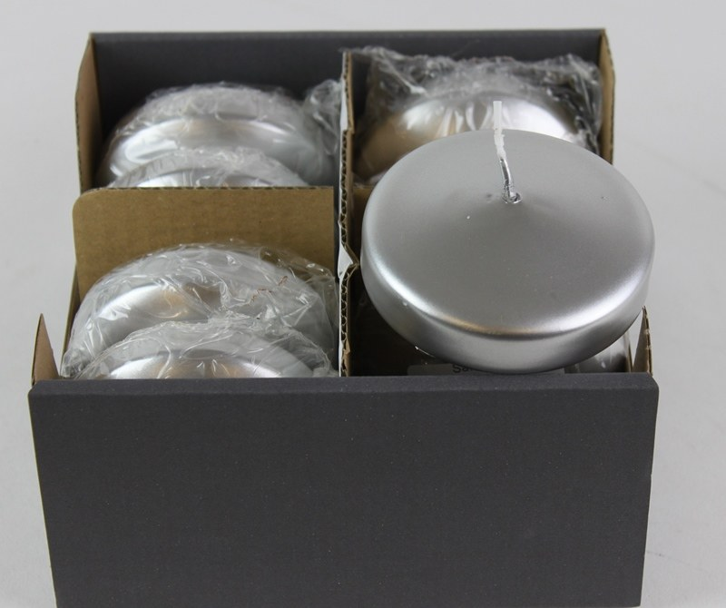 Floating Candles Large Silver x 8