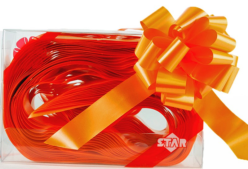 Pull Bows 31mm x 30 Tangerine
