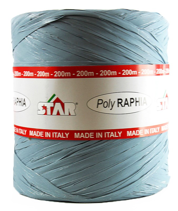 Poly Raphia Ribbon 200m Dusty Blue