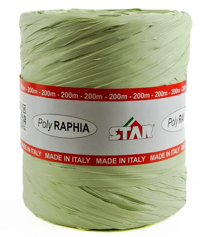 Poly Rpahia Ribbon 200m Sage Green