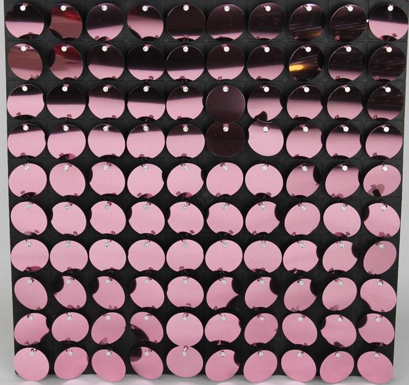 Sequin Wall Panel Rose 30cm x 30cm
