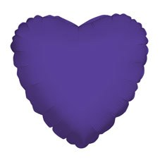 Purple 18in foil heart balloon