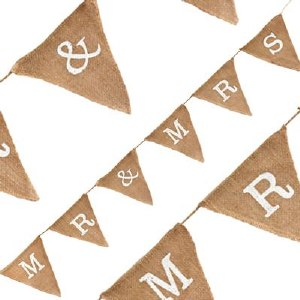 Wedding Bunting Hessian Mr & Mrs 1.8m