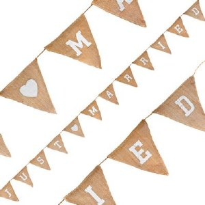 Wedding Bunting Hessian Just Married 3.2m