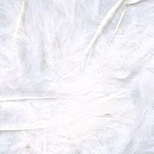 "Bridal Feathers White 8g 3""-8"""