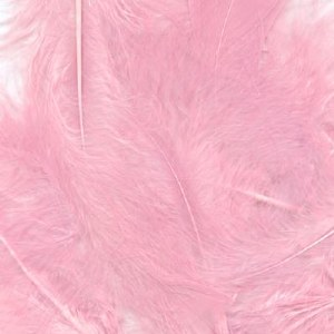 "Bridal Feathers Light Pink 8g 3""-8"""