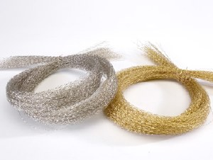 Gold bullion wire florist swag
