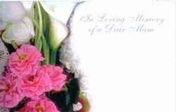 Packet of 50 In loving memory florist cardscards