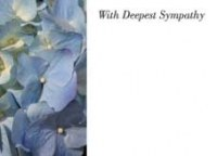 Packet of 6 large with deepest sympathy cards