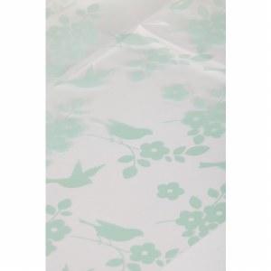Mint green bird/ blossom cellophane wrap 80cm x 100m