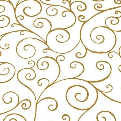 Cellophane wrap gold scroll 80cm x 100m
