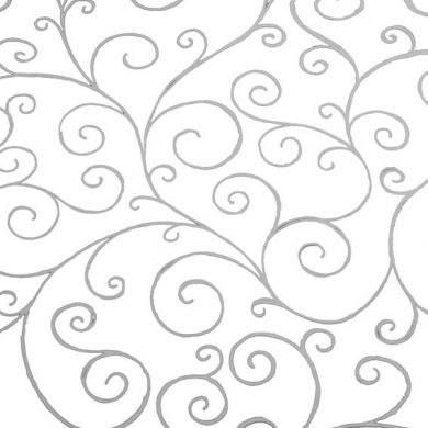 Cellophane wrap silver scroll 80cm x 100m