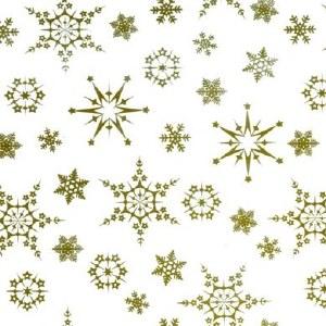 Cellophane snowflakes gold 80cm x 100m