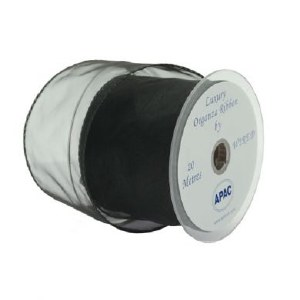 Organza ribbon black 70mm x 20m