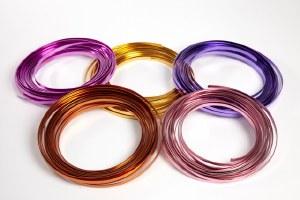 Rose flat aluminium florist wire