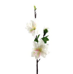 Magnolia Artificial Flower Stem 90cm Ivory