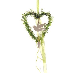 Wedding heart with dove