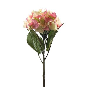 Pink Hydrangea single stem artificial flower