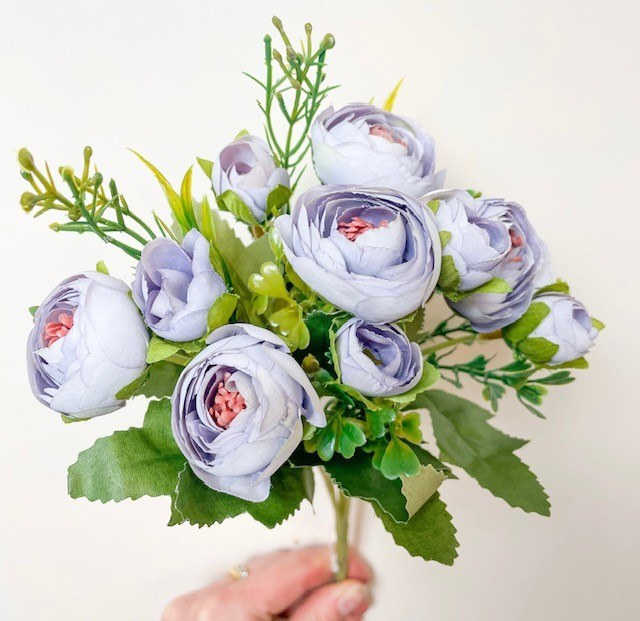 Artificial Flower Ranunculus Bunch x 10 lilac