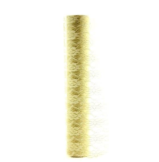Ivory lace fabric 38.5cm x 10yds