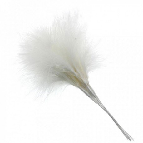 Wired Fluffy Feathers Fluff Feather x 6 Black