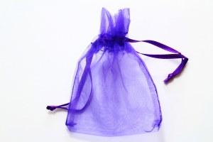 Organza Favour Bags Purple Small x 10
