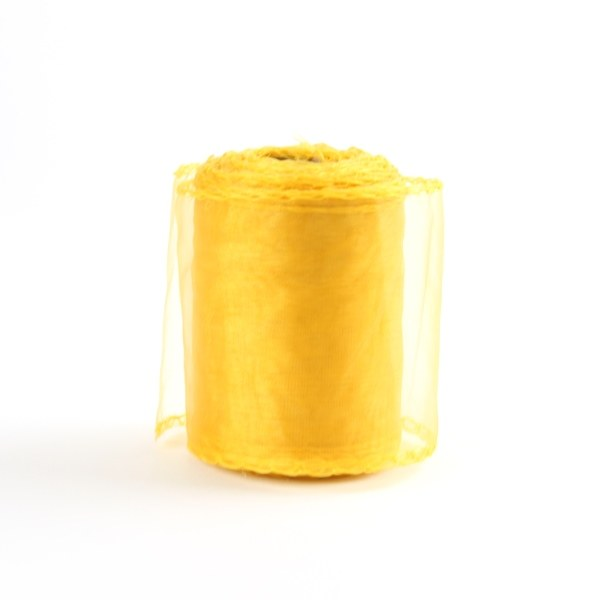 Gold organza ribbon 7cm x 20yards