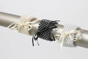 Ivory flower pearl corsage bracelet