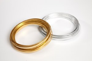 Gold rough flat wire 100g 5mm