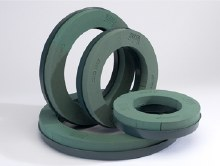 2 x 10in foam naylor base wreath ring