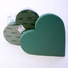 2 x 21in ideal floral foam heart shape