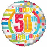 Happy 50th Birthday Foil Balloon 18""